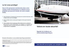 Flyer meldepflichtige Ereignisse General Aviation
