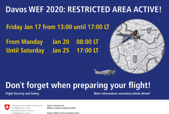 Plakat WEF 2019: Restricted area